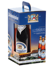 WEIHENSTEPHAN GLASS & 3 X 500ML GIFT