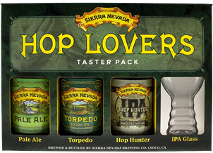 Sierra Nevada Hop Lovers Pack 3 x 355ml & IPA Glass