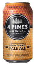 4 PINES INDIAN SUMMER PALE ALE CAN 375ML