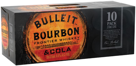 BULLEIT 6.0% COLA 10PK CAN 375ML